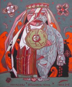 """Kreutzwald, Fr. R. """"Rõugutaja tütar"""", 2008, segatehnika"""