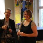 Renata Malcer-Dymarska Läänemere Kultuurikeskusest Gdanskis koos abikaasaga